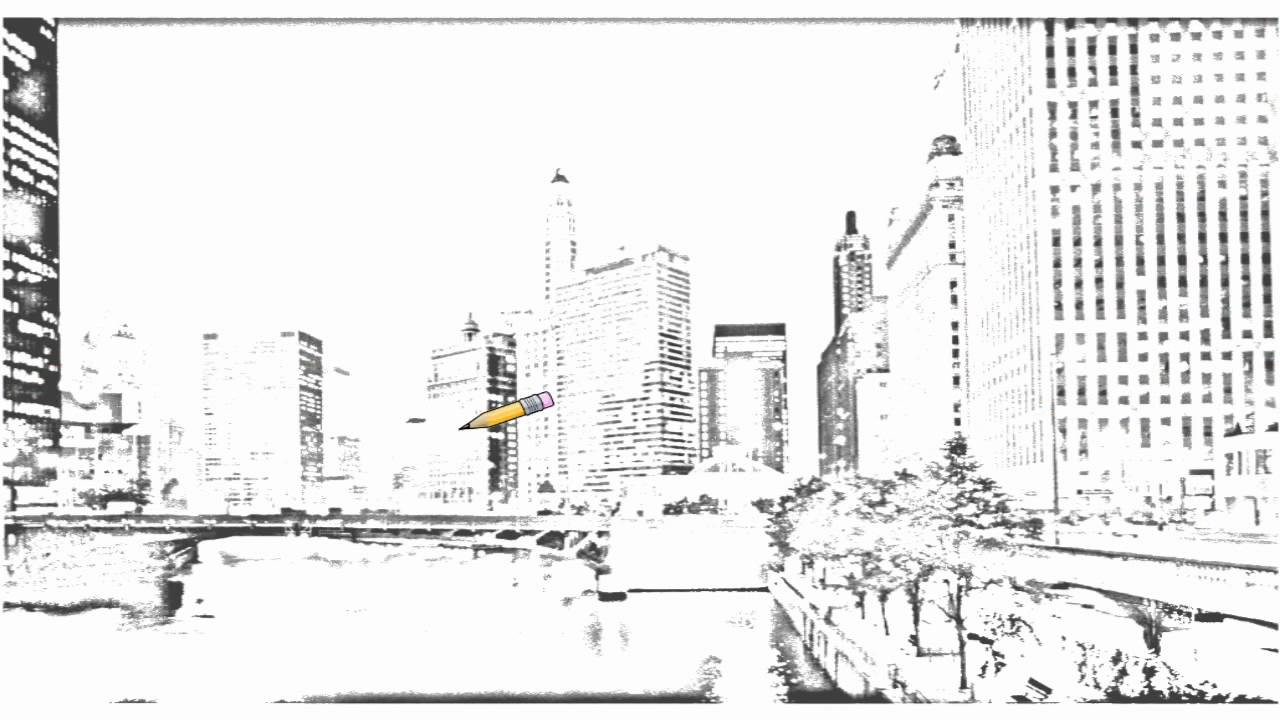 how to draw chicago city