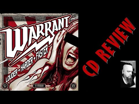 WARRANT - LOUDER HARDER FASTER (CD REVIEW)...