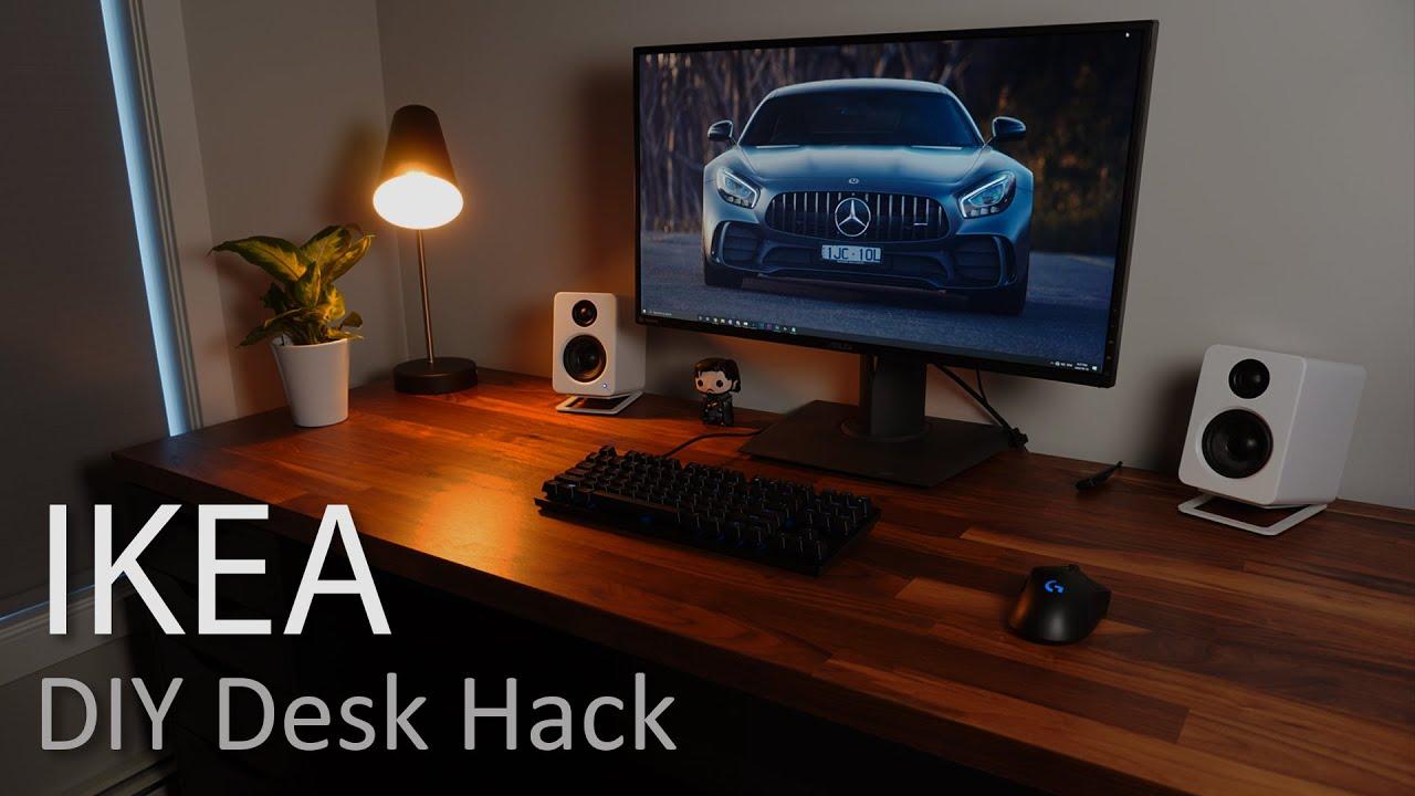 Modern IKEA Home Office Desk Hack (2020)