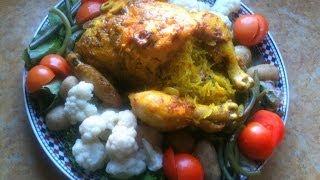 Moroccan Stuffed Chicken دجاج محشو بالطريقة المغربية
