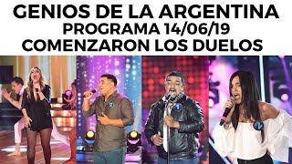 genios-de-la-argentina-en-showmatch-programa-completo-14-06-19-comenzaron-los-duelos