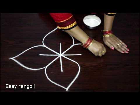easy free hand rangoli designs * simpl rangoli with out dots * friday kolam *muggulu * rangavalli