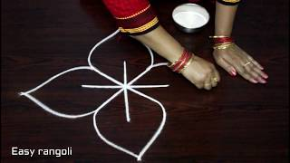 easy free hand rangoli designs * simpl rangoli with out dots * friday kolam *muggulu * rangavalli
