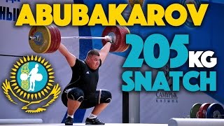 Selimkhan Abubakarov (105+) - 205kg Snatch @ 19 years old