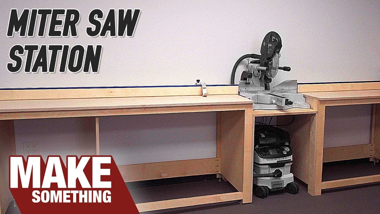 Simple Miter Station Build. Easy Shop Project! - YouTube