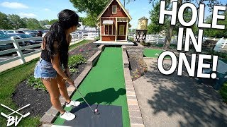 THE GRAVITY ASSISTED MINI GOLF HOLE IN ONE! | Brooks Holt