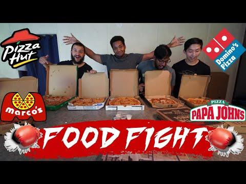 FOOD FIGHT! Pizza Hut Vs Papa Johns Vs Domino's Vs Marcos Vs Local Pizza