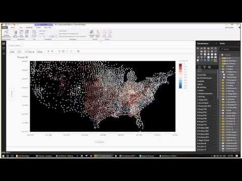 Power BI:  Sand Dance with US County Data