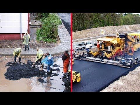 World's Amazing Modern Road Construction (USA, Germany, Australia, Russia)