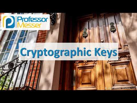 Cryptographic Keys - CompTIA Security+ SY0-501 - 6.1