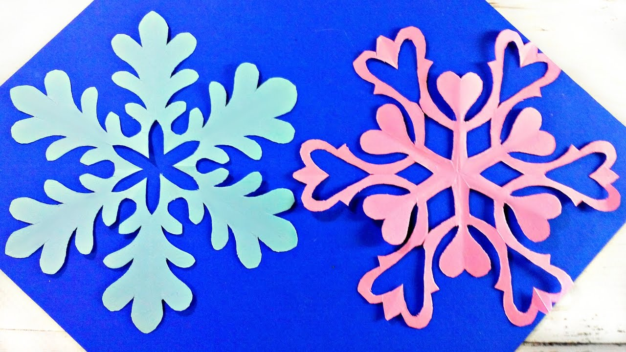 Origami snowflake frozen easy paper tutorial instructions  New year  christmas diy paper snowflakes