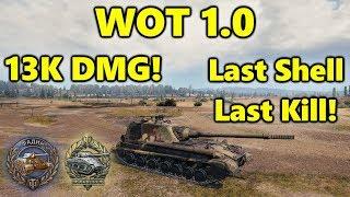 World of Tanks - Object 268 v4 - 13K DAMAGE 8 Kills - Last Shell Last Kill - WOT 1.0