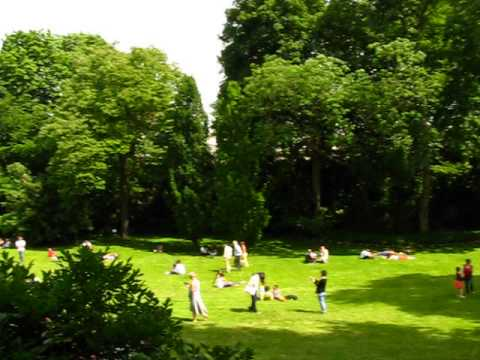 Visite du jardin du Palais de l'élysée