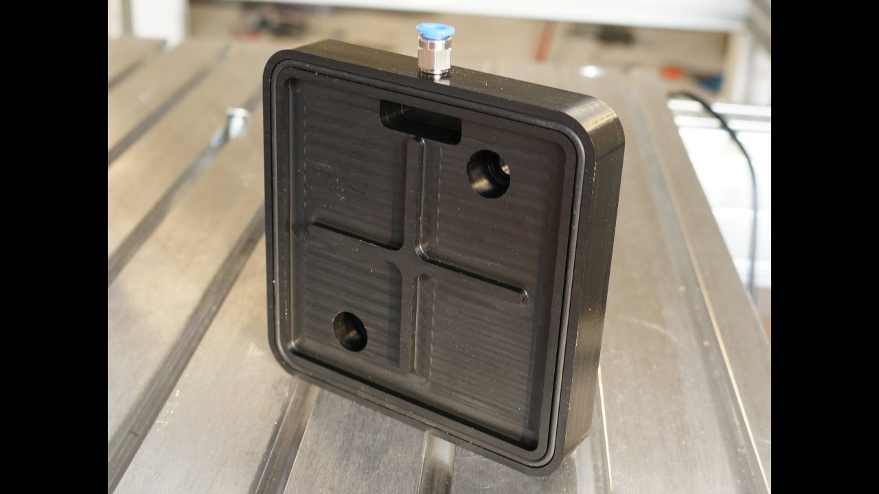 Vacuum Pad For Clamping With Rotary Vane Pump