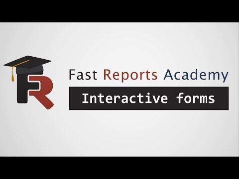 FastReport .NET Demo: Interactive Forms