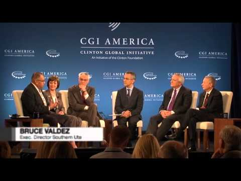 Noble CEO at the Clinton Global Initiative Panel Discussing Energy Production
