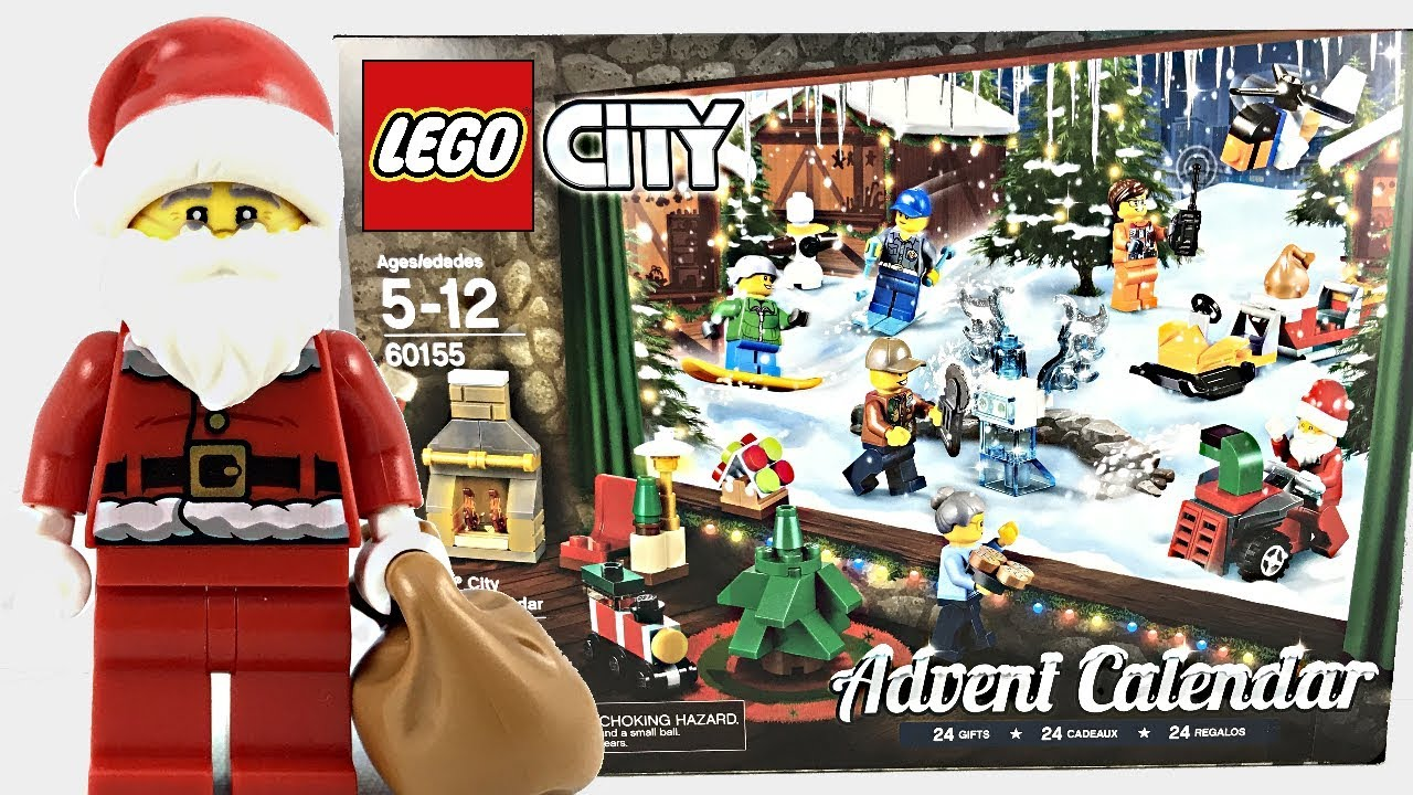 Lego City Advent Calendar 2017 Review And Unboxing 60155 Youtube