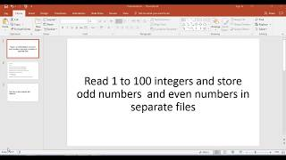 program to read 1-100 integers and store odd and even numbers into separate file