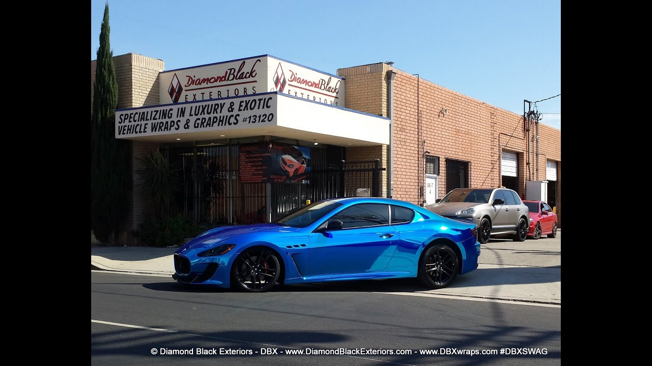Project Maserati Granturismo Mc Wrapped In Avery Blue