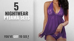 Top 10 Nightwear Pyjama Sets [2018]: RZS Women's Sexy Lingerie Soft Sleepwear Set Halter Dress
