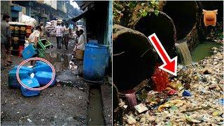 直擊「亞洲第一貧民窟」,千人用一廁,垃圾淹過頭,河水彩色....!