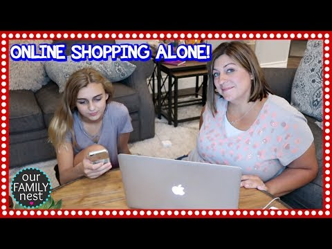 HER FIRST TIME ONLINE SHOPPING WITHOUT A PARENT!