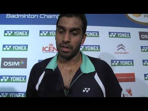 Rajiv Ouseph post interview from the Yonex All England Open Badminton Championships
