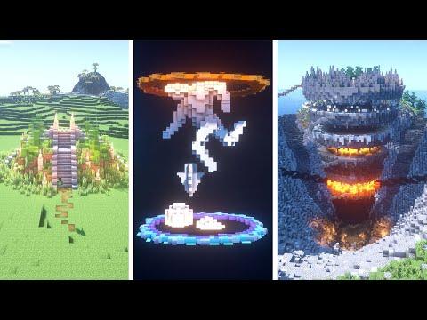 End Portal Minecraft Builds | BASIC Vs INTERMEDIATE Vs EXPERT