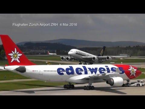 Flughafen  Zürich Airport ZRH 2016 05 04