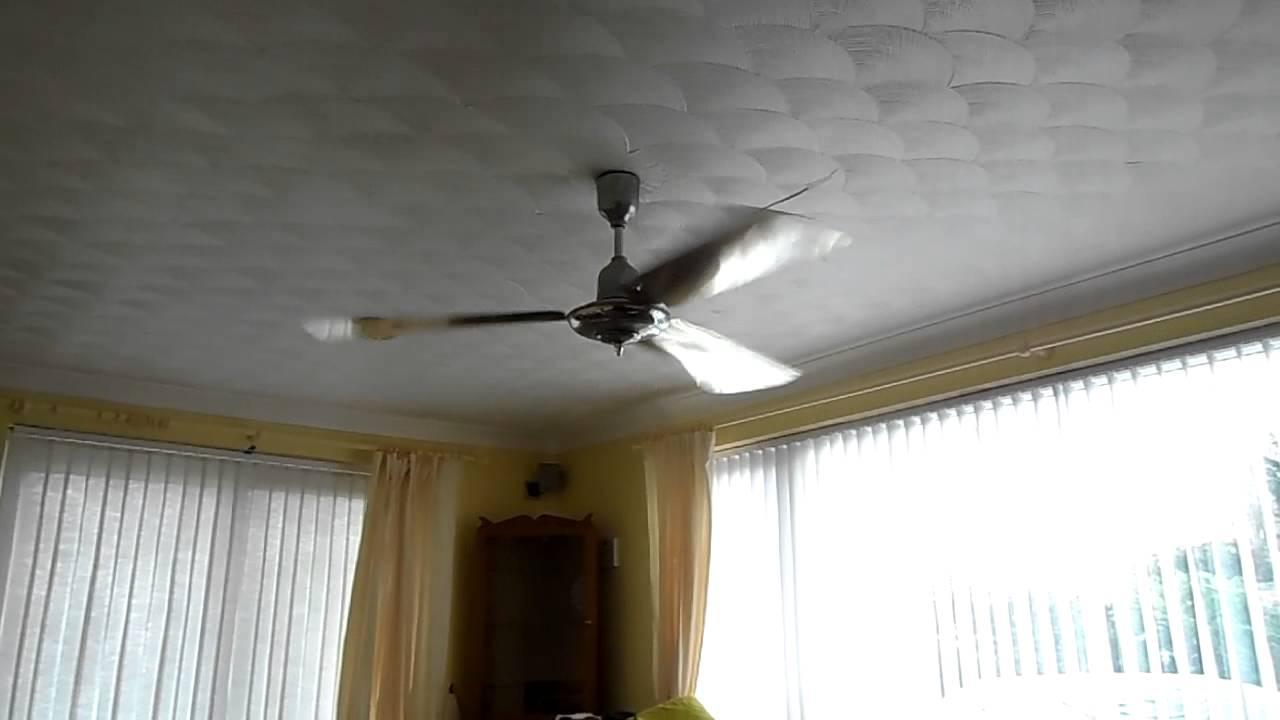 cinni 3 blade 5 speed chrome ceiling fan demonstration - youtube