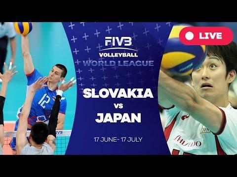 Slovakia v Japan - Group 2: 2016 FIVB Volleyball World League