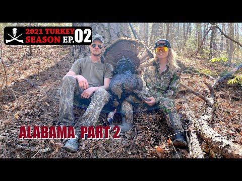 Gobbler Down in the Pines! Alabama Turkey Hunting – 2021 Turkey Season, Ep. 02