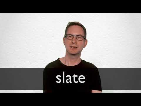 Slate definition and meaning | Collins English Dictionary