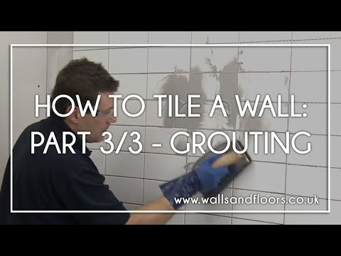 How To Tile A Wall 3 Grouting The Tiles