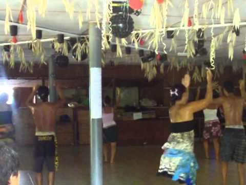 Our first viewing of a Marquesan dance practice