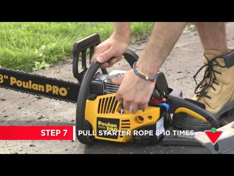 How To Winterize Your Equipment Chainsaw (Step 9)