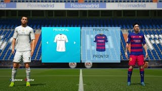 FIFA 16 Gameplay - REAL MADRID vs BARCELONA - C. Ronaldo, Messi e Neymar