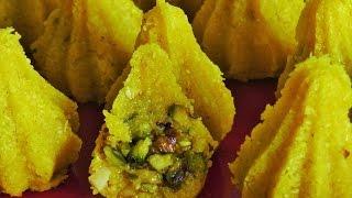 शाही मोदक  / Shahi Modak / Stuffed Coconut Modak by madhurasRecipe Marathi