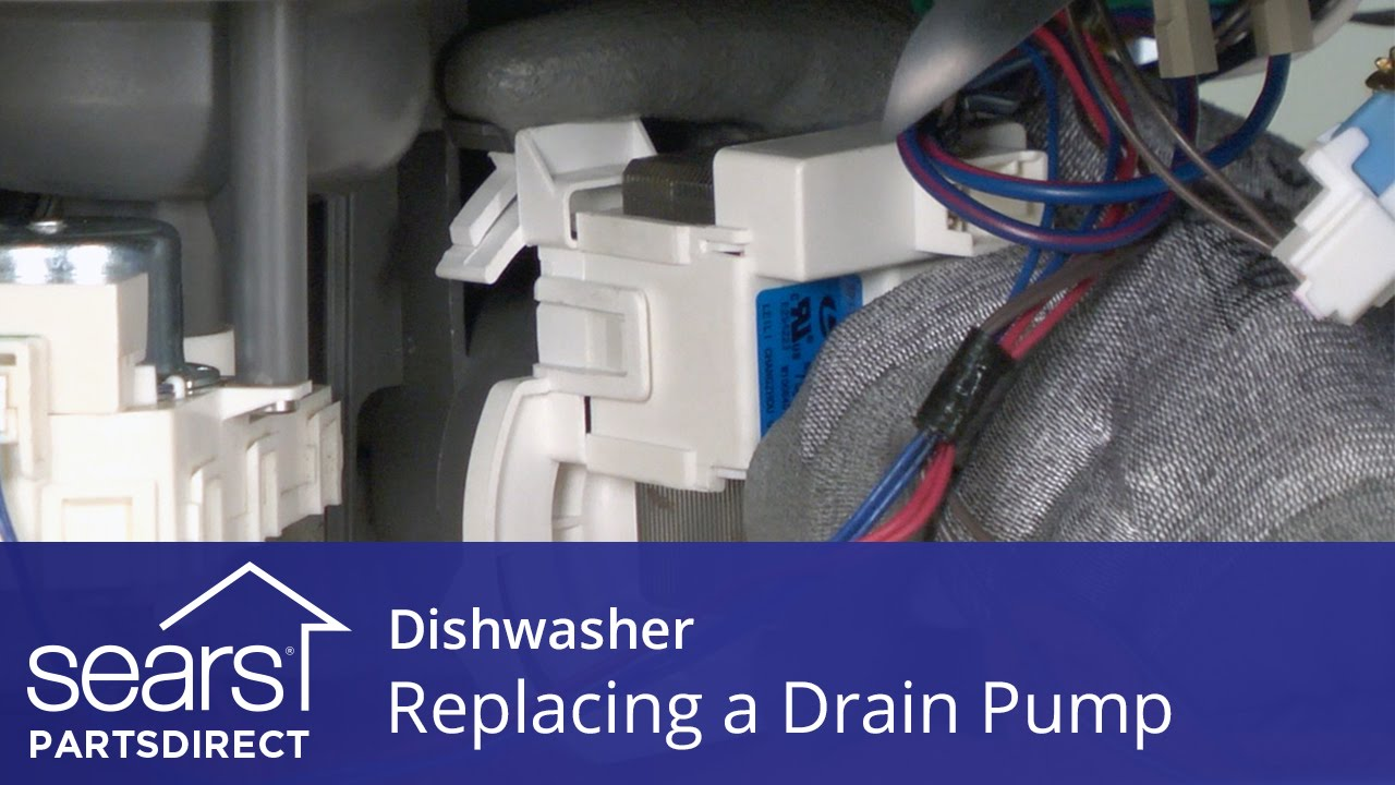 Replacing The Drain Pump On A Dishwasher Youtube Unit Parts Diagram List For Model 609215810 Searsparts Faucet