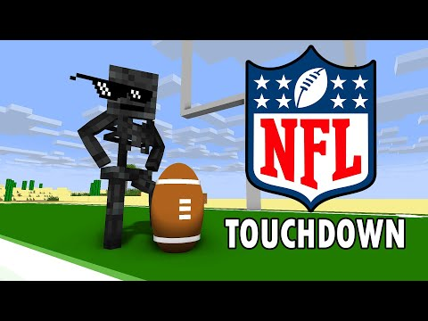 Monster School : NFL AMERICAN FOOTBALL CHALLENGE - Minecraft Animation