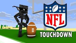 Monster School : NFL AMERICAN FOOTBALL CHALLENGE - Minecraft Animation