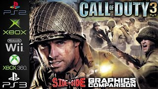 Call of Duty 3 | Side by Side | PS2 XBOX Wii Xbox 360 PS3 | FPS & Graphics Comparison