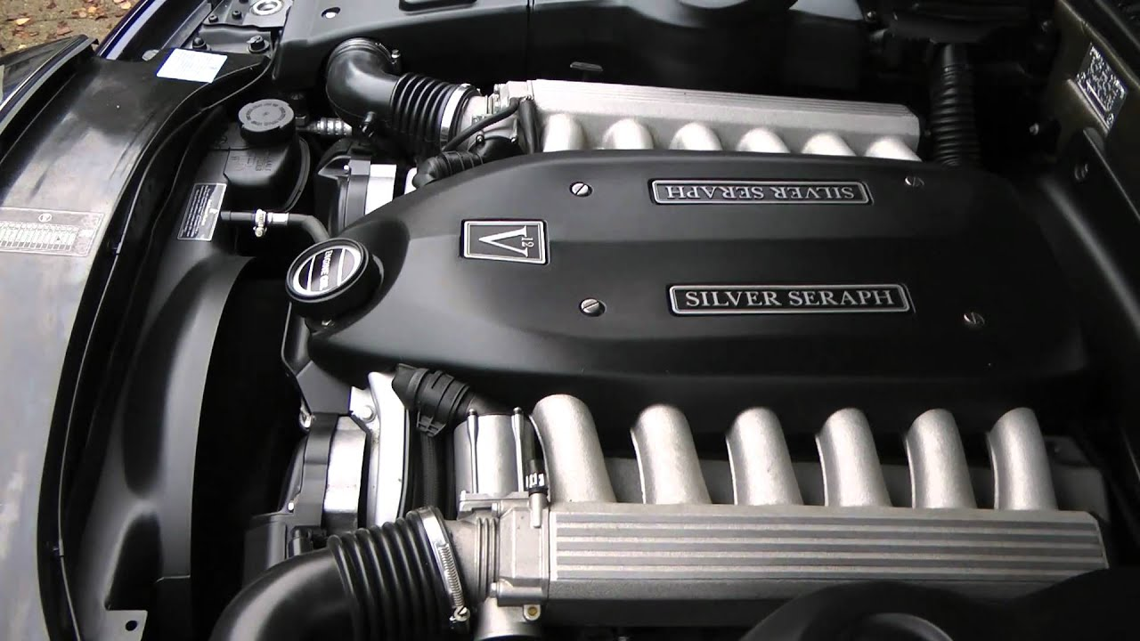 Rolls-Royce Silver Seraphs engine, 5.4 L V12 1999 - YouTube