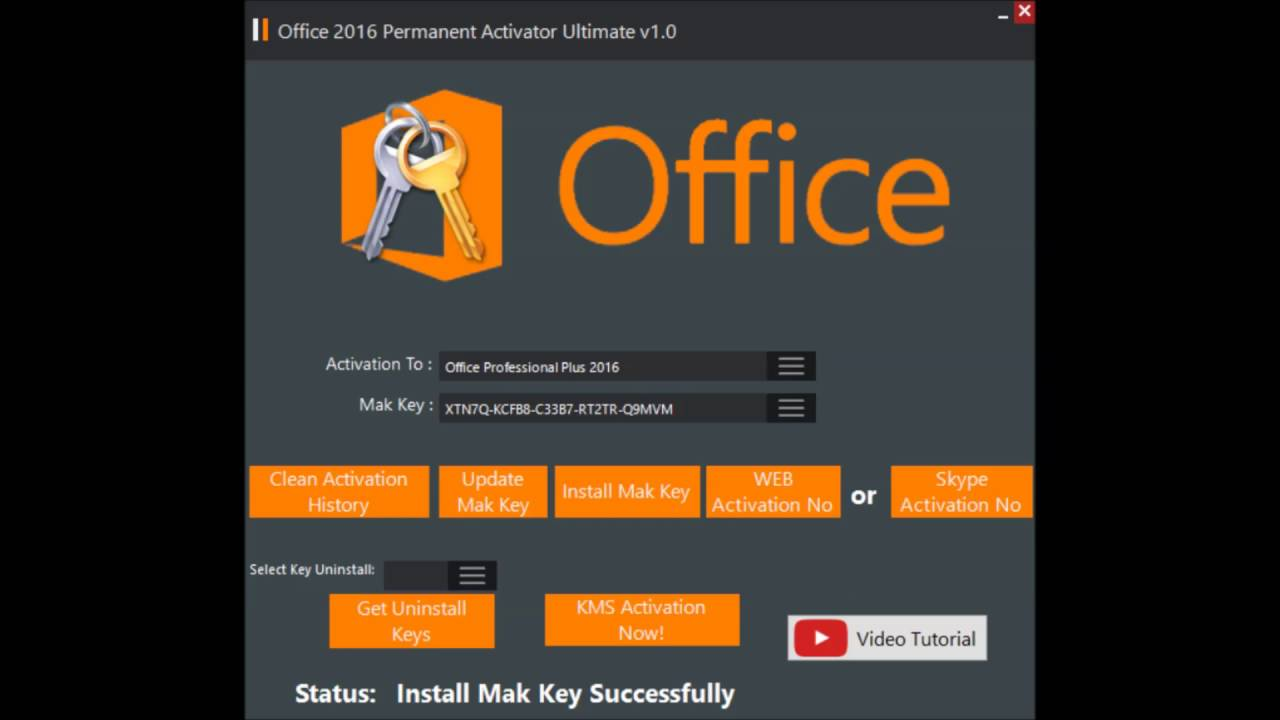 office 2016 and activator