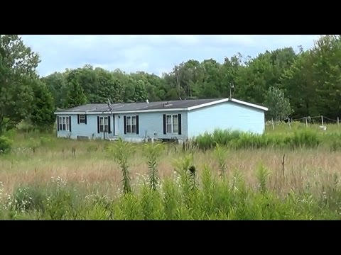Abandoned Double Wide Mobile Home With Huge Pond