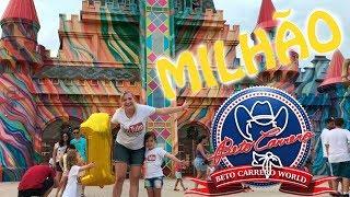 COMEMORANDO 1 MILHAO DE INSCRITOS NO PAQUE DO BETO CARRERO Amusement Family Fun Park and funny play