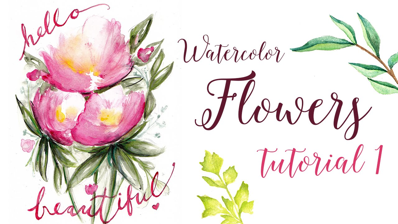 Watercolor flowers tutorial quick and easy youtube for Easy watercolor tutorial