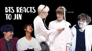 bts reacts to jin | 방탄소년단 석진 p3