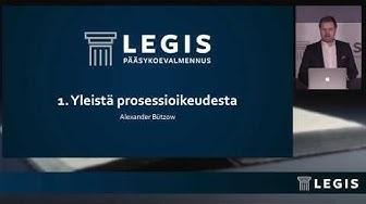 Legiksen Johdantokurssi, osa 14: Prosessioikeus, osa 1