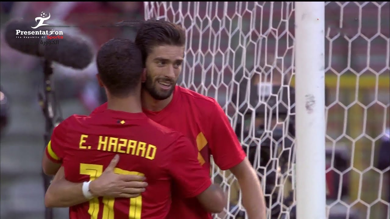 الهدف الثاني لبلجيكا في شباك منتخب مصر - هازارد